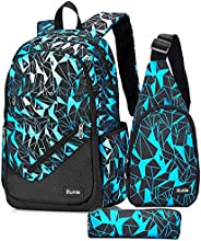 Bunie Boys Backpack for School Large Bookbag Set for Middle High Elementary Casual Daypack