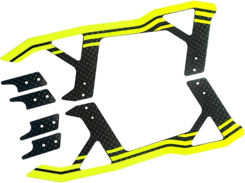 Miroheli Carbon Fiber Landing Skids Yellow for MH Landing Gear Series Blade 250 CFX// 270 CFX// 300 CFX