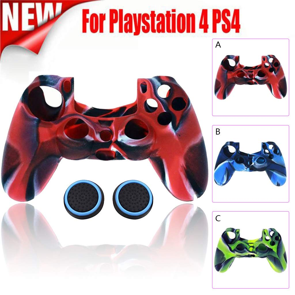 Silicone Case Cover for Playstation PS4 Controller Soft ...