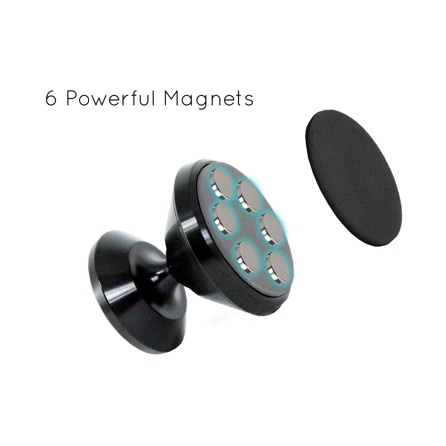 Magnetic Phone Mount for Flat Surfaces Extra Strong Support