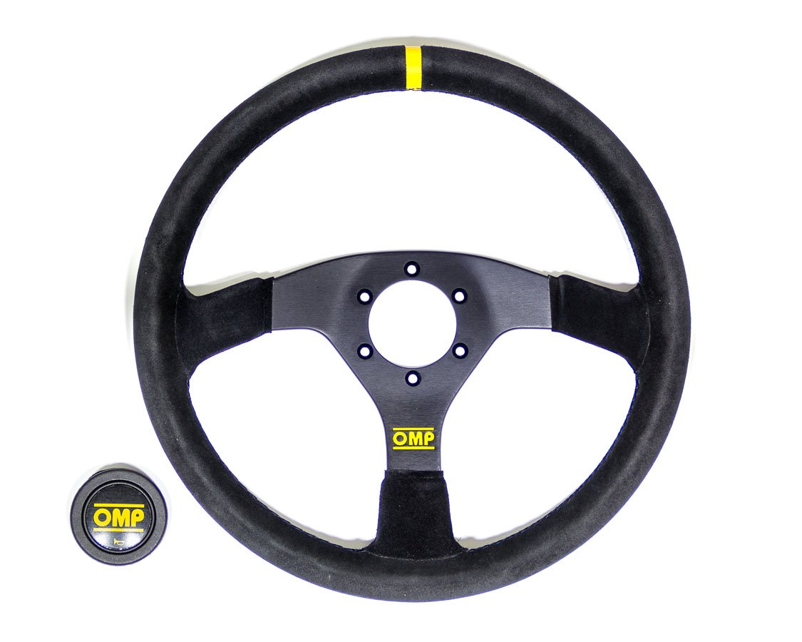Black 35/cm 35 cm OMP OD//1958 Ompod 1958/Steering Wheel Suede//Leather