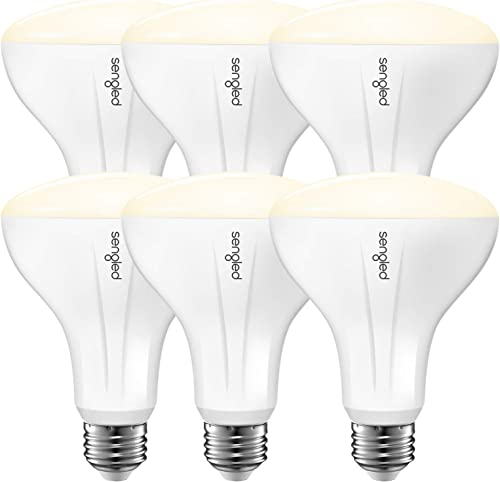 Sengled Smart Bulb Works with Alexa Google Home, BR30 E26 LED Bulbs 2700K Soft White, Dimmable Smart Light Bulb Hub Required, 9W 65W Equivalent 2.4G and 5G UL-Listed 650LM Indoor Flood Light 6 Pack