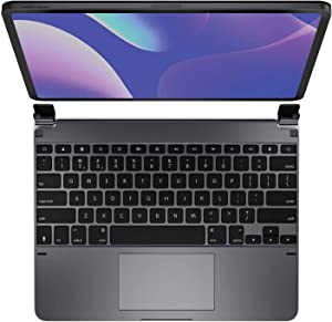 Brydge 11.0 Pro+ Wireless Keyboard with Trackpad | Compatible with iPad Pro 11-inch (2018 & 2nd Gen, 2020) and iPad Air 4 (2020) | Backlit Keys | Long Battery Life | (Space Gray)