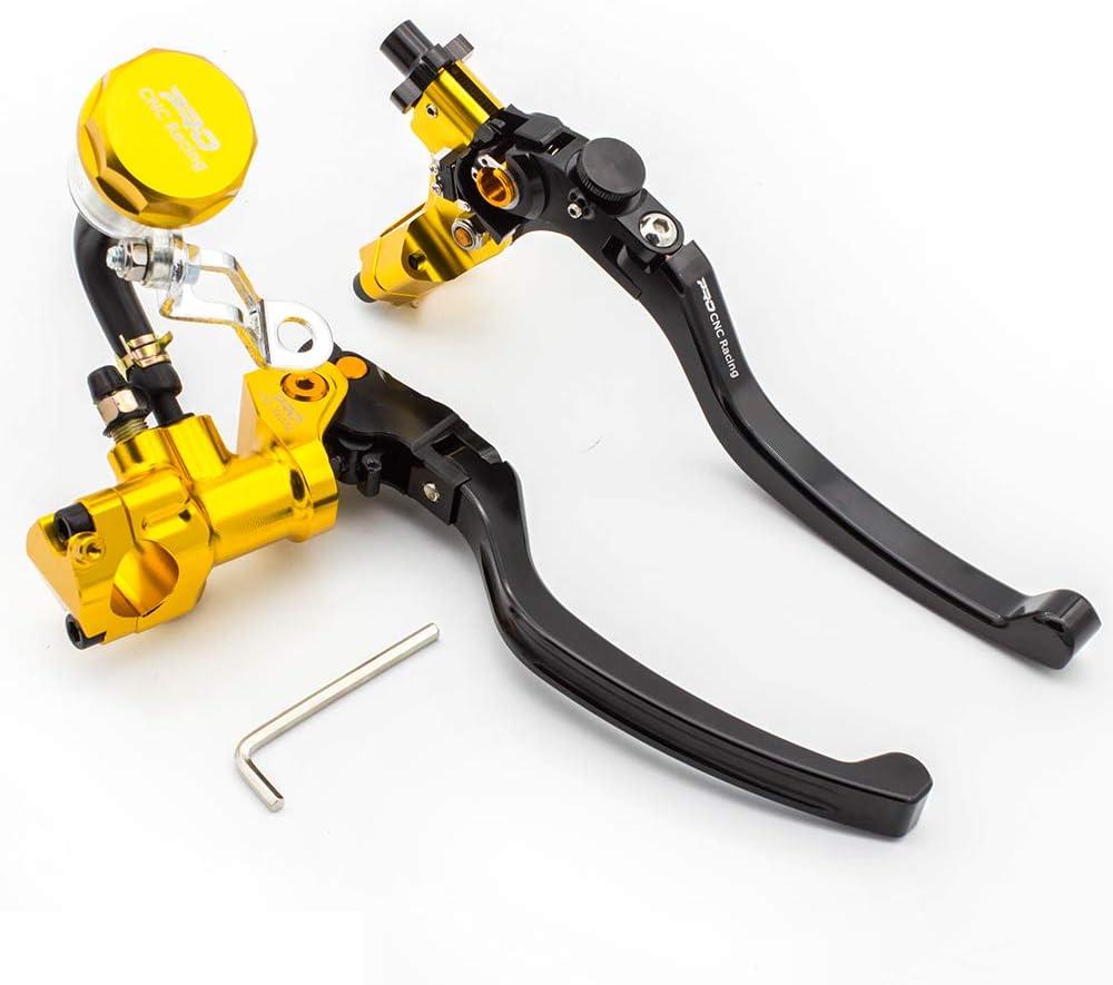 "7/8"" 22mm Universal Motorcycle Hydraulic Brake & Cable Clutch Master Cylinder Levers for 300-1800CC Sport bike/Street bike/Slippery Car Kawasaki Ninja 250R 300R ZX6R ZX10R Honda CBR600RR CBR954RR"