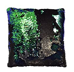 Reversible Sequin Decorative Color Changing Mermaid Pillow