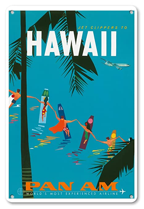 Póster Vintage Hawaiano de Aaron Fine c.1959 con Diseño de ...
