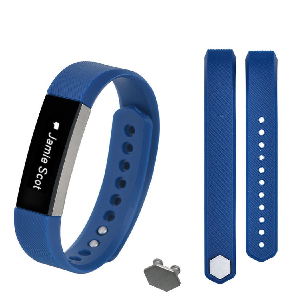 シリコン時計ストラップ、RTYOu ( TM )耐久性Smallサイズ交換リストバンドバンドストラップ+バックルfor Fitbit ALTA  ダークブルー B078CQG77Z