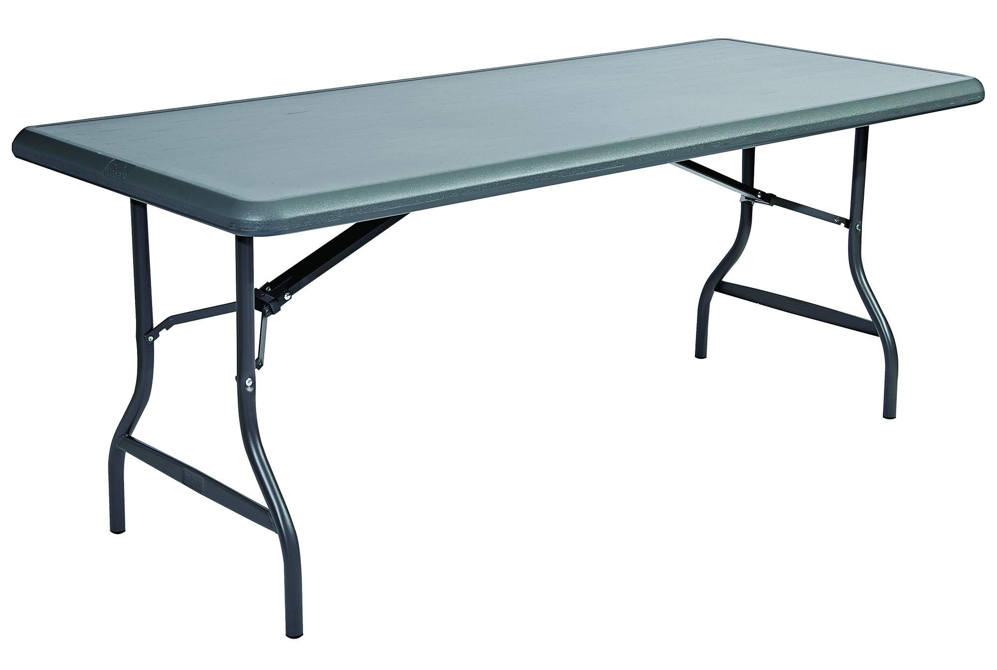 Iceberg ICE65227 IndestrucTable TOO 1200 Series Steel Legs Plastic Folding Table, 2000 lbs Capacity, 72'' Length x 30'' Width x 29'' Height, Charcoal by Iceberg