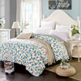 "100% Cotton FULL Duvet Cover, KSENDALO Very soft/Comfortable/Full Printed, Size 79""X90"""