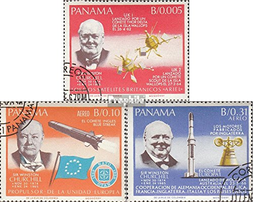 Panama 933A-935A (Complete.Issue.) 1966 Churchill (Stamps for Collectors) Space