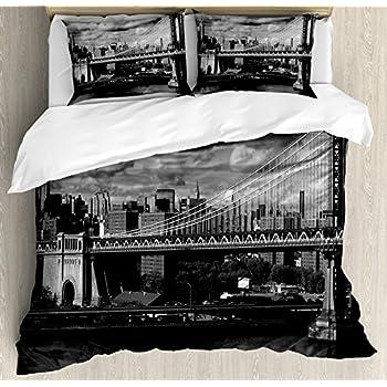 Street Life New York Retro Vintage Bedding Set Photo Print Single Double King