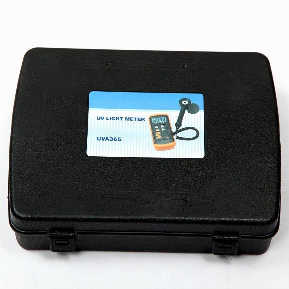 400m W//cm UV Light Meter UVA LSI-Circuit Tester UV Sensor with Light Correction Filter Data Peak Hold Function UVA365 Measurement and Inspection Tool