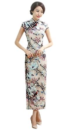 a6ce5482ce634 YueLian Women s Long Chinese Style Wedding Dress Qipao Cheongsam Party Dress  (China XL  US