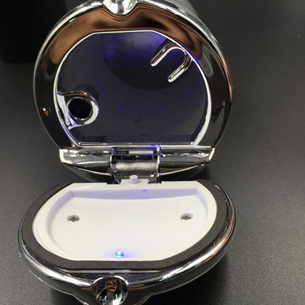 posacenere Auto portacenere Auto Illuminazione LED Portacenere posacenere Sigarette con Luce LED Blu EarthSave Posacenere Auto