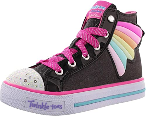 Skechers Kids Womens Twinkle Toes - Shuffles 10707L Lights (Little Kid/Big  Kid)