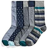 Goodthreads Men's 5-Pack Patterned Socks, Assorted Green, Shoe Size: 8-12
