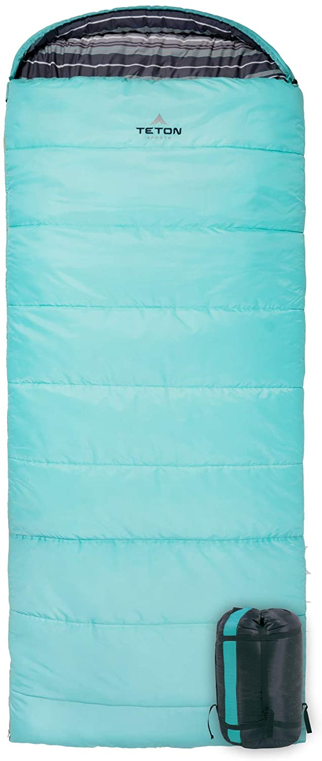 TETON Sports Regular Sleeping Bag Great for Family Camping Free Compression Sack