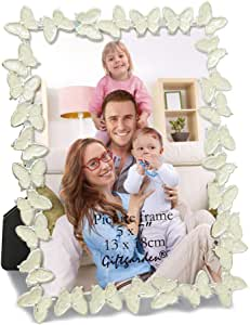 Giftgarden Metal Butterfly Decor 5 x 7 Inch Picture Frame Photo 5x7