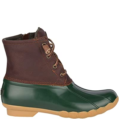 Sperry Top-Sider Saltwater Duck Boot Women 9.5 Green | Rain Footwear