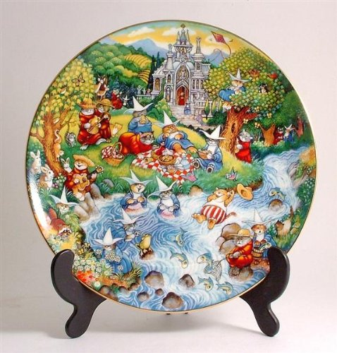 Franklin Mint Royal Doulton Purrfect Picnic by Bill Ben Cat plate CP574