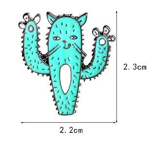 BinSanDa Spille per Donne Abbigliamento Decorazione Gioiell Accessori per Abiti Distintivo per Spilla Cactus Super Carino (Blu)