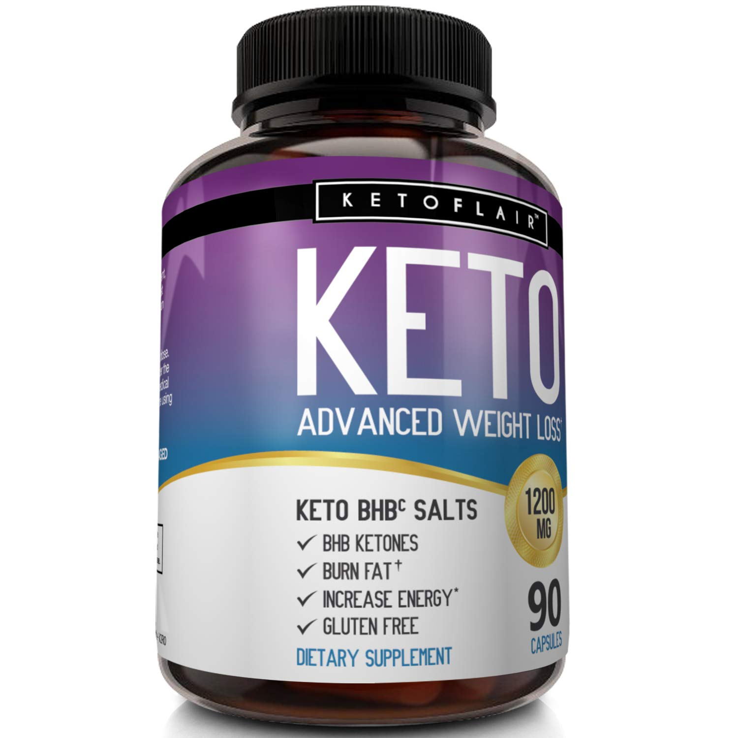 Best Keto Diet Pills GoBHB 1200mg, 90 Capsules Advanced Weight Loss Ketosis Supplement - Natural BHB Salts (beta hydroxybutyrate) Ketogenic Fat Burner, Carb Blocker, Non-GMO - Best Weight Loss Support by NutriFlair (Image #8)
