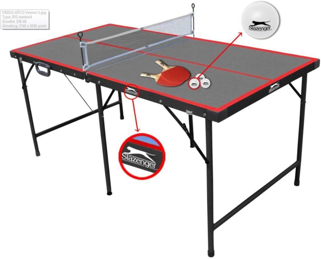 Slazenger - Mesa de Ping-Pong Plegable, 1,5 m: Amazon.es: Juguetes y juegos