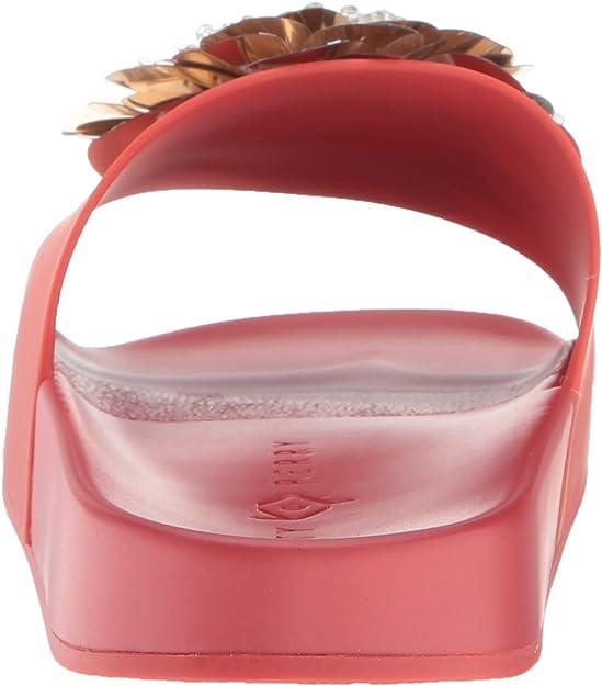 DARCE SLIDES//SANDALS WOMEN'S SZ 7 RED; MULTI FLORAL DESIGN KATY PERRY
