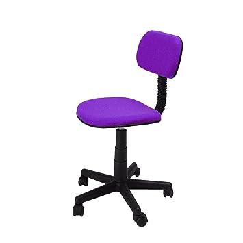 Sunny giratoria/Máquina de escribir silla/oficina stühl, con respaldo regulable, color morado: Amazon.es: Hogar
