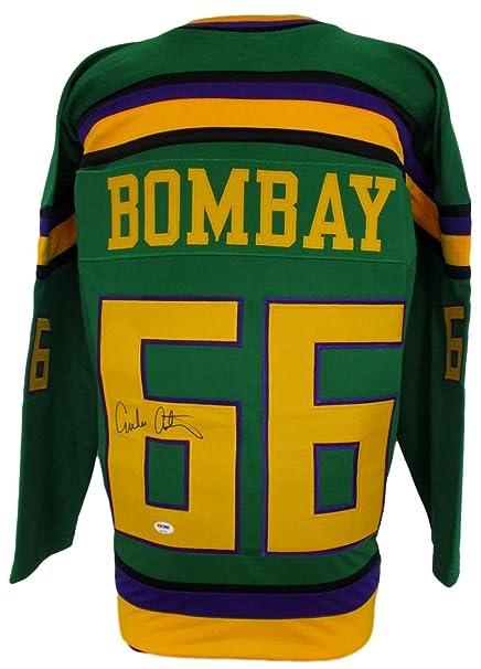 215cbdb97 Emilio Estevez Signed Gordon Bombay Mighty Ducks Hockey Jersey PSA at  Amazon's Sports Collectibles Store