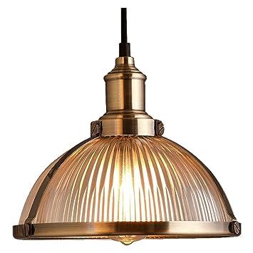 Diseño retro - Lámpara de techo metal cristal Pantallas de ...