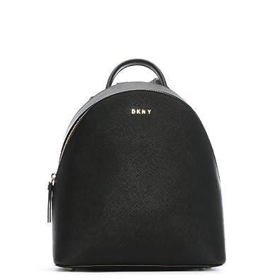 bf4b88dad7 DKNY Elle Medium Black Saffiano Leather Backpack Black Leather ...