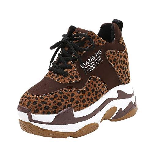 f046e3ced1330 Zapatillas Botines Botas Deporte Zapatos Alta Sneakers Wedges para  Mujer