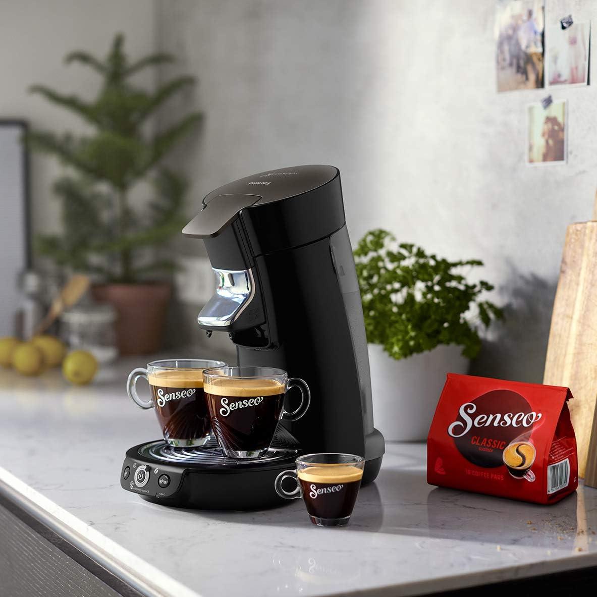 schwarz, General/überholt Crema plus, Kaffee-St/ärkeeinstellung Philips Senseo HD6564//60R1 Viva Caf/é Kaffeepadmaschine