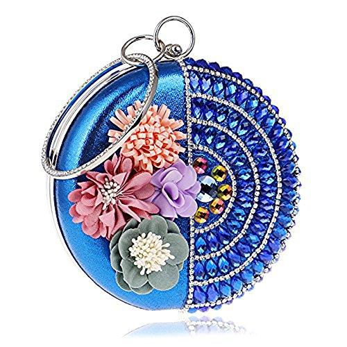 WANGXN - Cartera de mano para mujer, plata (plateado) - 8536356385 azul