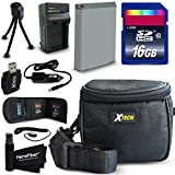 Ideal Accessory Kit for Canon Powershot SX710 IS, SX530 HS, SX610 HS, SX710 HS, SX600 HS, SX700 HS, SX520 HS, SX510 HS, SX500 IS, SX280 HS, SX260 HS, SX170 IS, SD1300 IS, SD1200 IS, SD980, SD770, SD1300, D30, D20, D10, IXUS 85 IS, IXUS 95 IS, IXUS 200 IS Digital Cameras Includes 16GB High Speed Memory Card + 1 High Capacity NB-6L NB6LH Lithium-ion Battery with Quick AC/DC Charger + Water Resistant