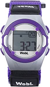 WobL - PURPLE 8 Alarm Vibrating Reminder Watch, Kids Watch