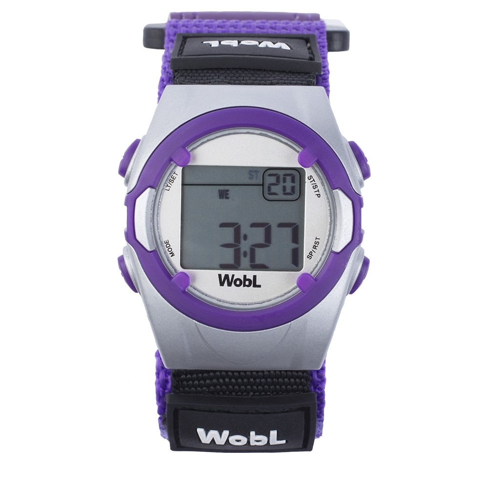 WobL - Purple 8 Alarm Vibrating Reminder Watch