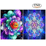 5D DIY Diamond Painting Full Drill, Diamond Paint by Numbers for Adults, Romantic Flowers, Perfect Gift for Families Friends, Cross Stitch DIY Craft - 12 x 16 inch …