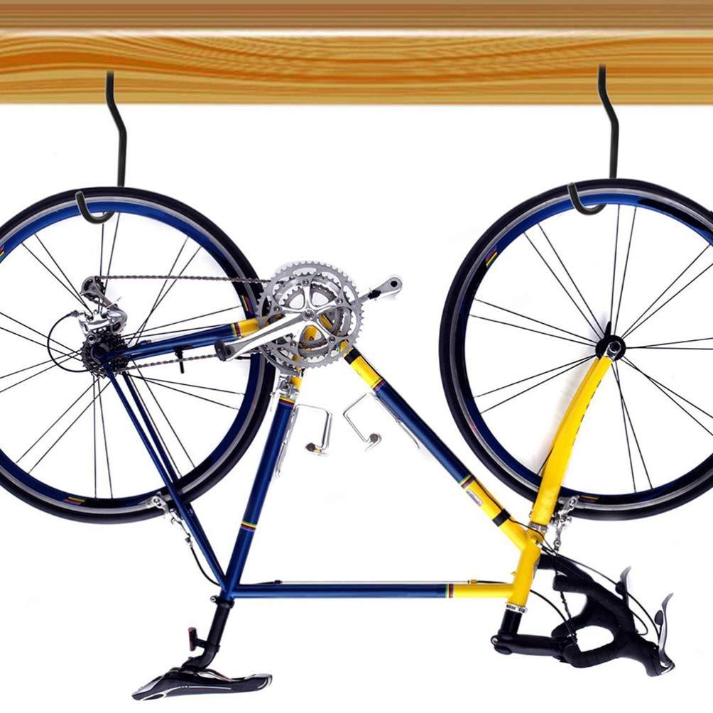 4 piezas pernos + 4 piezas bicicleta gancho Yardwe Ganchos para bicicleta Gancho de pared para bicicleta Ganchos de almacenamiento de bicicleta para pared y techo de garaje