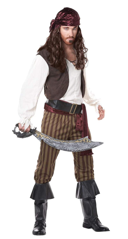 KULTFAKTOR GmbH Pirat Pirat Pirat Herrenkostüm braun-Weiss M 939948
