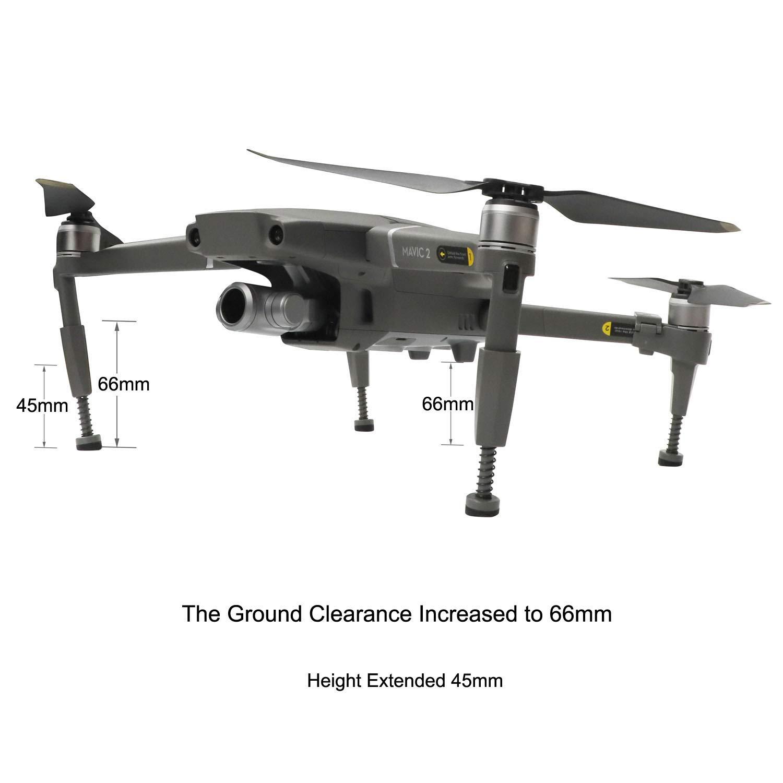 Carrello elevatore rinforzato per innalzamento di RC Gear Pro Supporto ammortizzatore antiurto per antiurto per DJI Mavic 2 Pro//Zoom Drone