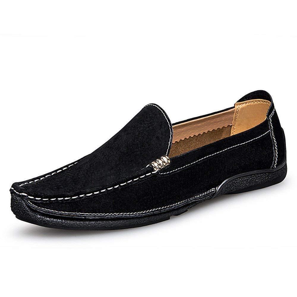 Svarta Hhguld Mans Mocasins skor, Mans Mans Mans Driver Loafers Handtillverkade Suture mocka Genuine läder Penny Boat Mockasines (färg  blå, Storlek  39 EU) (färg  Blå, Storlek  37 EU)  förstklassiga kvalitet först