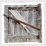 Cotton Microfiber Hand Towel,Rustic,Aged Wood Barn Door with Rusty Crossed Locks Abandoned Ancient Western Farmhouse Design,Brown,for Kids, Teens, and Adults,One Side Printing