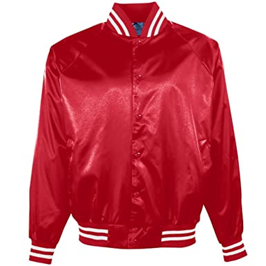 Amazon.com : Augusta Sportswear Men's Satin Baseball Jacket ...
