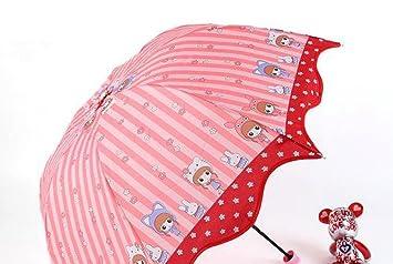 Paraguas plegable dibujos animados conejo ni?a paraguas paraguas paraguas infantil , color average