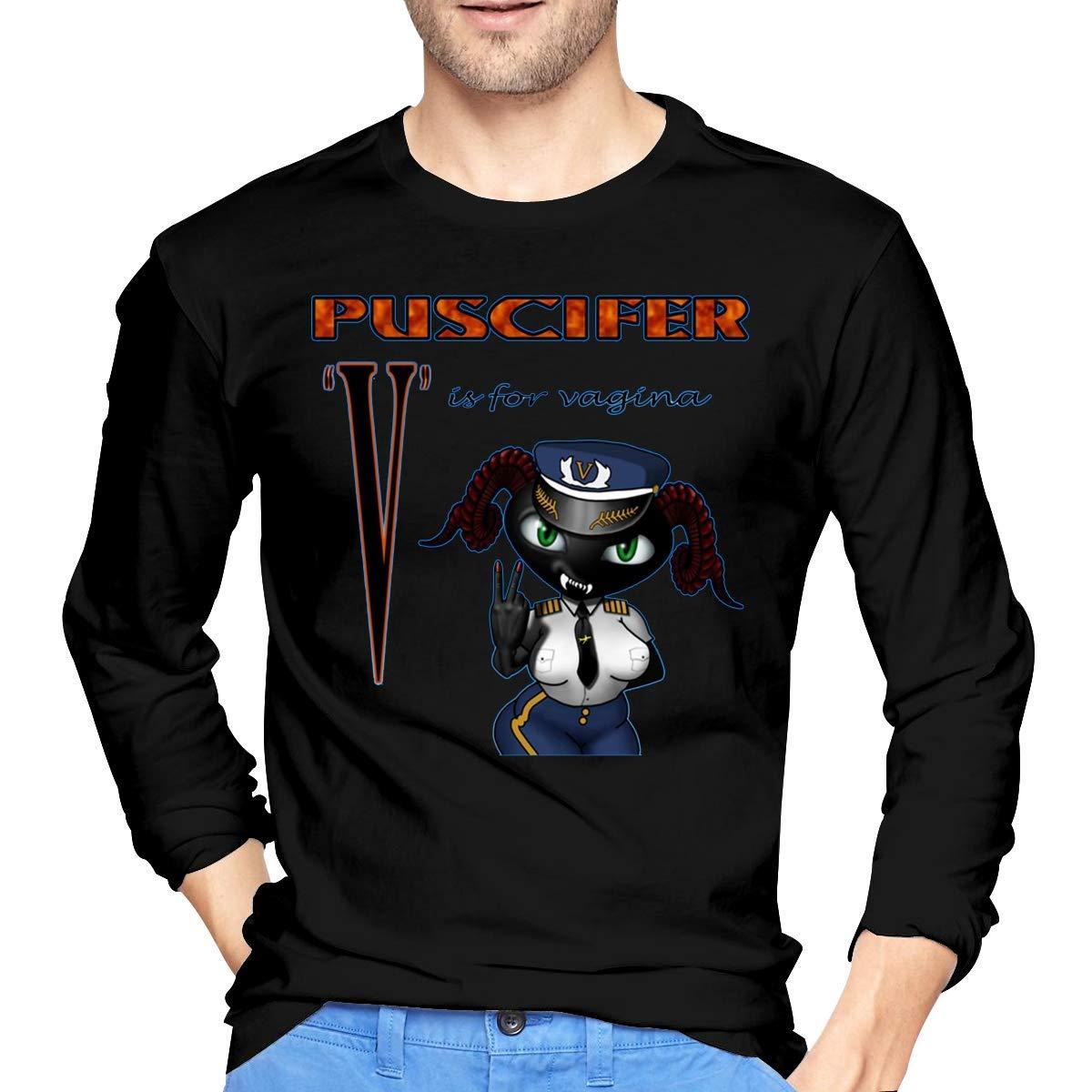 Fssatung S Puscifer V Is For Vagina T Shirts Black