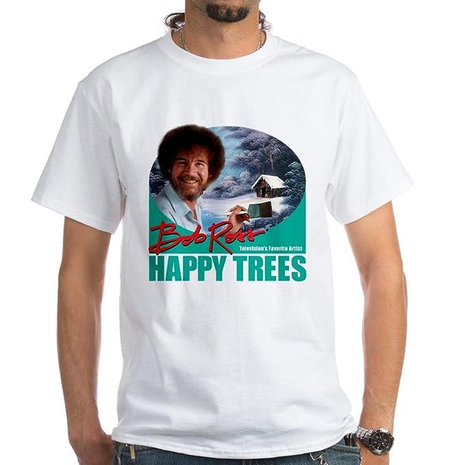 Amazon.com: CafePress – Bob Ross – Camiseta blanca ...