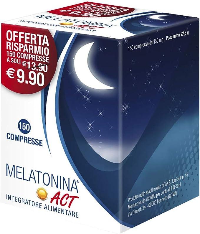 melatonina act 1mg - 150 compresse b018h9huxa