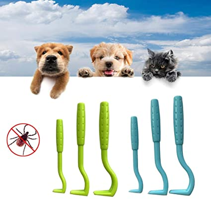 2 In 1 Stainless Steel Tick Tweezers Professional Quick Tick Removal Tool for People Dog Cat